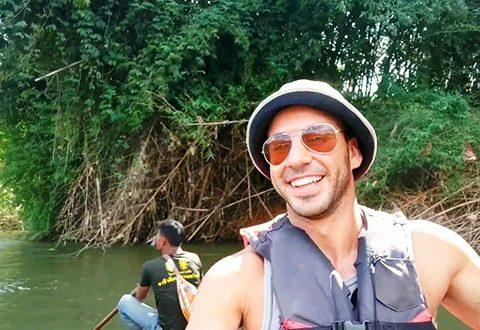 Kanchanaburi Rio Kway y ruta en elefantes