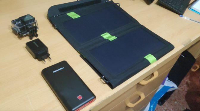 Accesorios para mochileros, Cámara Deportiva, Power Bank, Panel Solar y Cargador USB